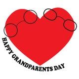 Vector l'illustrazione con il giorno felice dei nonni dell'iscrizione Fotografia Stock Libera da Diritti