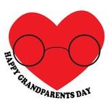 Vector l'illustrazione con il giorno felice dei nonni dell'iscrizione Fotografie Stock