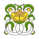 Vector l'illustrazione con il ramo dell'alloro sul campo bianco royalty illustrazione gratis