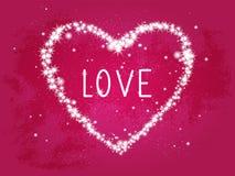 Vector l'illustrazione con un cuore decorativo fatto dalle stelle e Immagini Stock Libere da Diritti