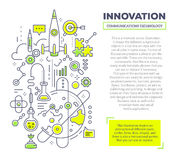 Vector l'illustrazione creativa di concetto di innovazione con l'intestazione a Immagine Stock
