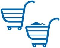 Vector l'illustrazione dei carrelli di acquisto Fotografia Stock