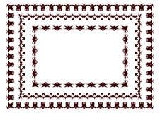 Vector l'illustrazione dei confini tribali ispirati dalle arti africane immagini stock