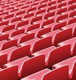 Vector l'illustrazione dei sedili rossi in uno stadio di calcio Immagine Stock Libera da Diritti