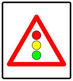 Vector l'illustrazione dei semafori firmano isolato su fondo bianco royalty illustrazione gratis