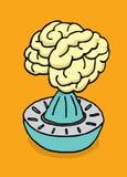 Spremuta del succo del cervello Fotografia Stock Libera da Diritti
