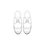 Vector l'illustrazione del disegno della mano con le scarpe di modo degli uomini Immagini Stock Libere da Diritti