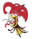 Vector l'illustrazione del gallo, il simbolo 2017 sul calendario cinese Fotografia Stock
