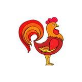 Vector l'illustrazione del gallo, un simbolo di 2017 Immagine Stock