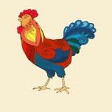 Vector l'illustrazione del gallo, un simbolo di 2017 Fotografie Stock