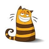 Vector l'illustrazione del gatto del Cheshire del fumetto per i bambini Fotografia Stock Libera da Diritti