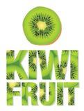 Testo del kiwi fatto dai kiwi Fotografia Stock