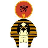 Vector l'illustrazione del Ra egiziano antico del dio Illustrazione di Stock