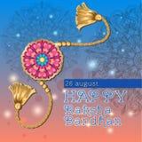 Vector l'illustrazione del rakhi decorato per il festival indiano Raksha Bandhan royalty illustrazione gratis