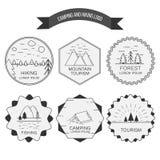 Vector l'illustrazione del simbolo per i campeggiatori, hiki di attività all'aperto royalty illustrazione gratis