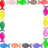 Illustrazione di vettore del telaio dei pesci Immagini Stock Libere da Diritti