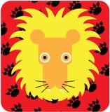 Vector l'illustrazione dell'icona dell'animale sveglio, leone illustrazione di stock