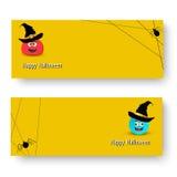 Vector l'illustrazione dell'insieme dell'insegna per Halloween illustrazione vettoriale