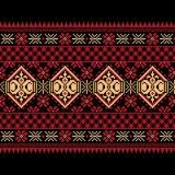 Vector l'illustrazione dell'ornamento senza cuciture piega ucraino del modello. Immagine Stock