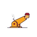 Vector l'illustrazione dell'uomo del profilo del fumetto in cannone illustrazione di stock