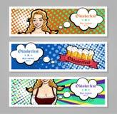 Vector l'illustrazione della cameriera di bar con le tazze della birra Per l'insegna, la copertura, il libretto o l'aletta di fil Fotografia Stock Libera da Diritti