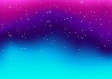 Vector l'illustrazione della galassia variopinta fantastica, cosmico astratto royalty illustrazione gratis