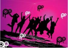 Vector l'illustrazione della gente di divertimento Fotografie Stock