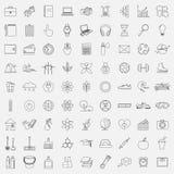 Vector l'illustrazione della linea icone per le sfere sociali differenti Fotografia Stock
