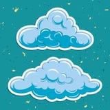 Nuvole di vettore Fotografie Stock Libere da Diritti