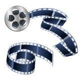Vector l'illustrazione delle videotape e dei film isolati su un bianco illustrazione vettoriale