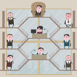 Vector l'illustrazione, descrivente il lavoro dentro l'ufficio illustrazione di stock