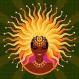Vector l'illustrazione di bella ragazza per un carnevale nel Brasile Fotografia Stock Libera da Diritti