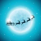 Vector l'illustrazione di Buon Natale festa e del buon anno con progettazione tipografica ed i fiocchi di neve sul backgrou del p Fotografia Stock Libera da Diritti