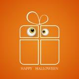 Vector l'illustrazione di grande regalo di Halloween con il mostro gentile EPS10 degli occhi royalty illustrazione gratis