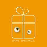 Vector l'illustrazione di grande regalo di Halloween con il mostro gentile EPS10 degli occhi illustrazione vettoriale
