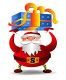 Vector l'illustrazione di Santa Claus su un fondo bianco Immagini Stock Libere da Diritti