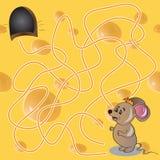 Vector l'illustrazione di spirito del gioco del labirinto o del labirinto Fotografie Stock Libere da Diritti
