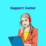 Vector l'illustrazione di un concetto del centro di sostegno illustrazione di stock