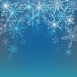 Vector l'illustrazione di un fondo dell'inverno con i fiocchi di neve illustrazione vettoriale