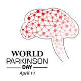 Vector l'illustrazione di un'insegna per il giorno del ` s di Parkinson del mondo Immagini Stock