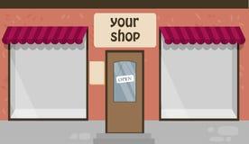 Vector l'illustrazione di un negozio Fotografia Stock Libera da Diritti