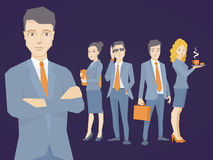 Vector l'illustrazione di un ritratto del capo di un uomo d'affari Immagine Stock