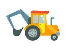 Vector l'illustrazione di un trattore del giocattolo su un fondo bianco Fotografia Stock