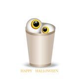 Vector l'illustrazione di una tazza di carta con gli occhi di un mostro su Halloween EPS10 illustrazione vettoriale