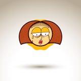 Vector l'illustrazione disegnata a mano di arte della persona gridante depressa G Immagine Stock