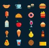 Vector l'illustrazione grafica di simboli di cucina di pasto rapido di web di simbolo di progettazione di gioco di computer del s Immagini Stock