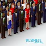 Vector l'illustrazione isometrica 3d della comunità di politica o di affari illustrazione di stock
