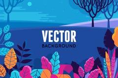 Vector l'illustrazione nello stile piano e lineare d'avanguardia - fondo Fotografia Stock