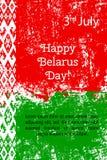 Vector l'illustrazione per il giorno della Bielorussia, la cartolina d'auguri di stile di lerciume, web Progetti il modello per i Fotografia Stock