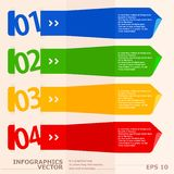 Insegne moderne di opzioni di infographics di velocità. Immagini Stock